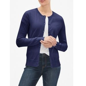 Navy 100% Cotton Long Cardigan